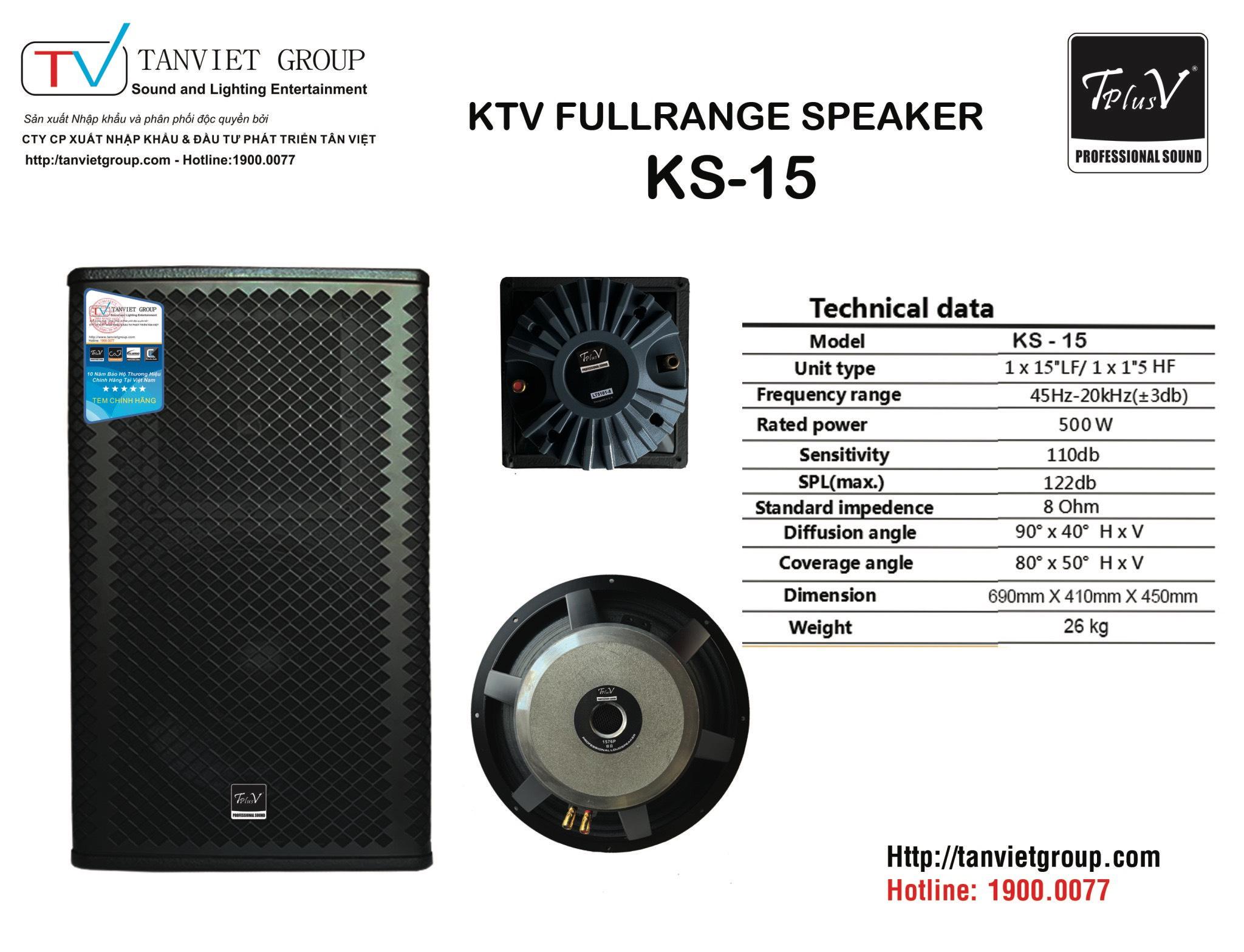 SPEAKER TPLUSV KS-15