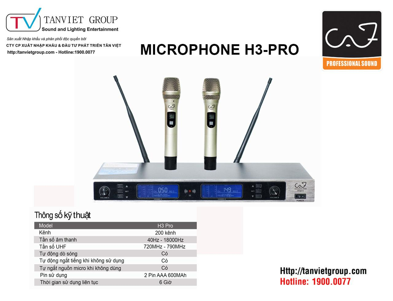 MICROPHONE CAF – Model H3 PRO