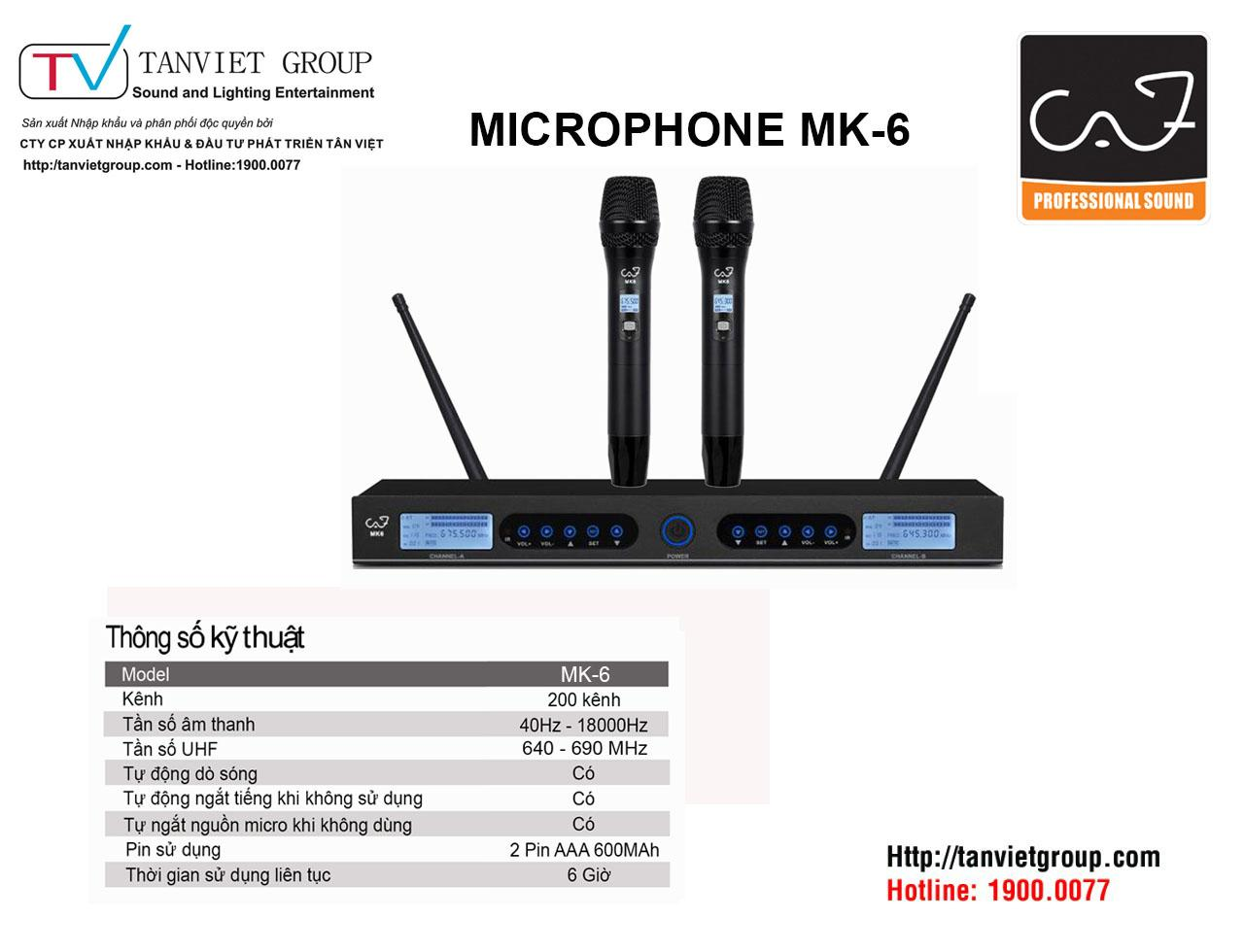 MICROPHONE CAF – Model MK6