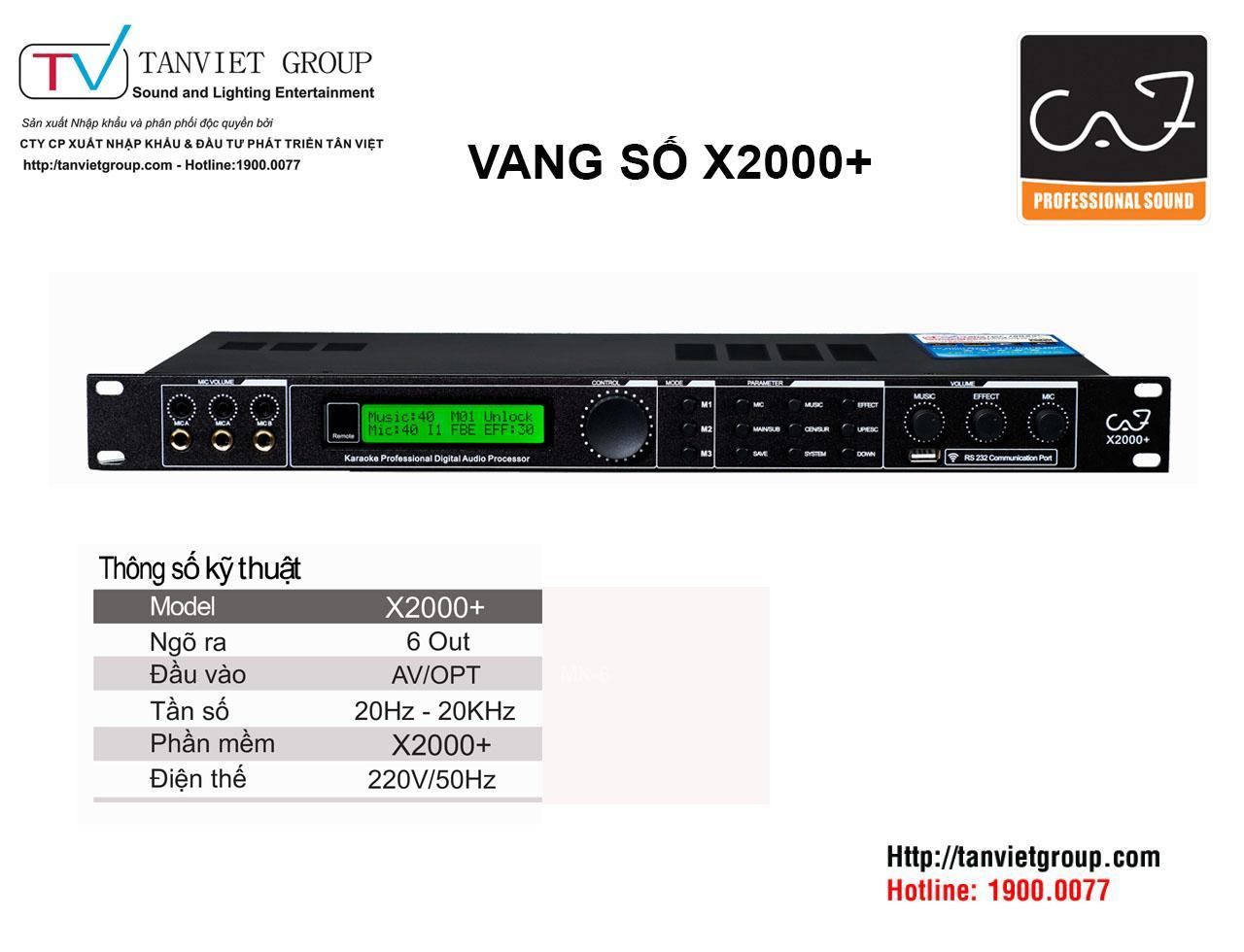 VANG SỐ X2000+