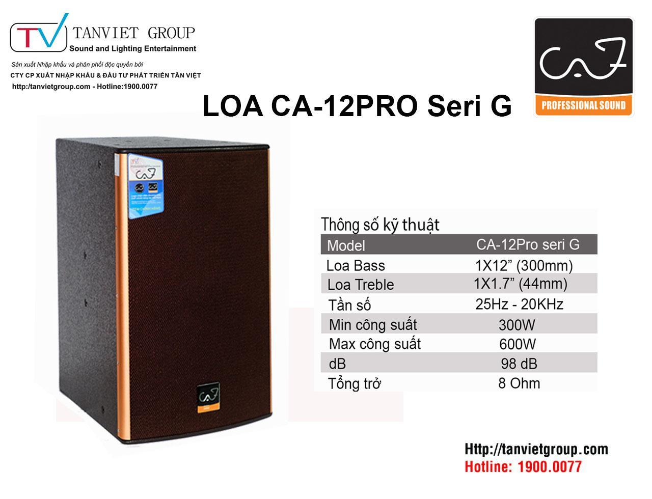 LOA CA-12PRO SERI G
