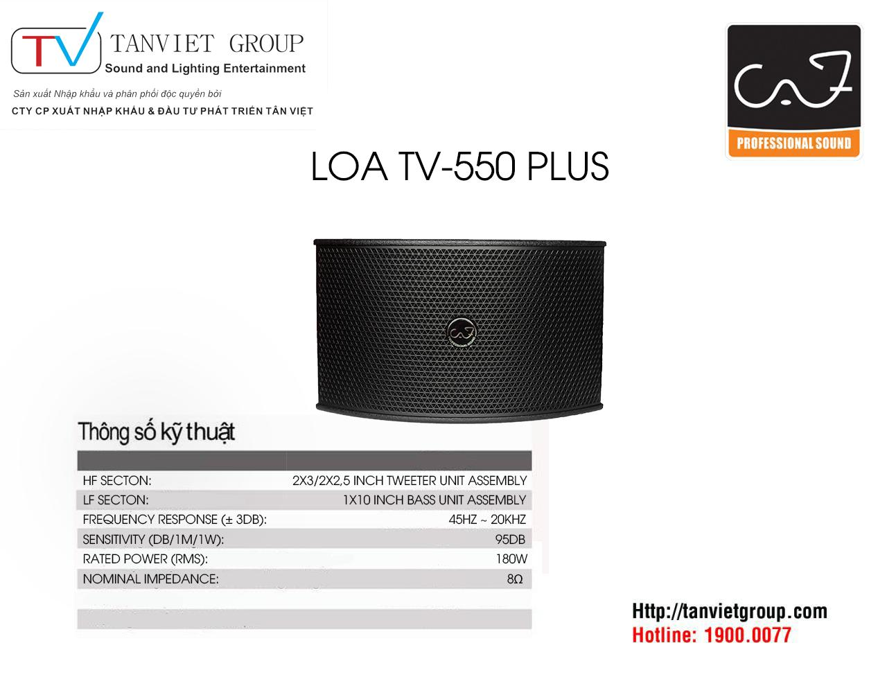 LOA CAF – Model TV 550PLUS