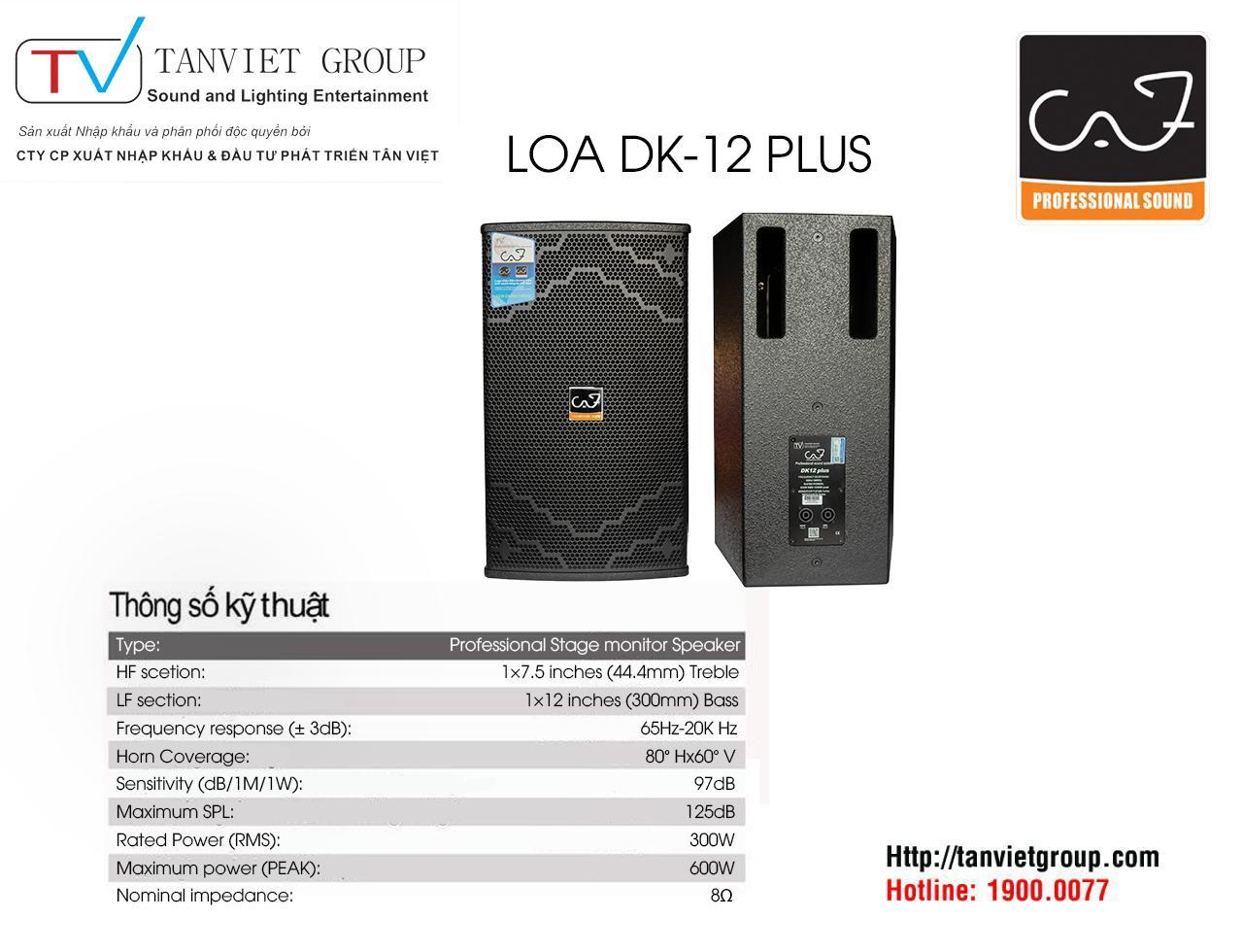 LOA CAF – Model DK-12 PLUS