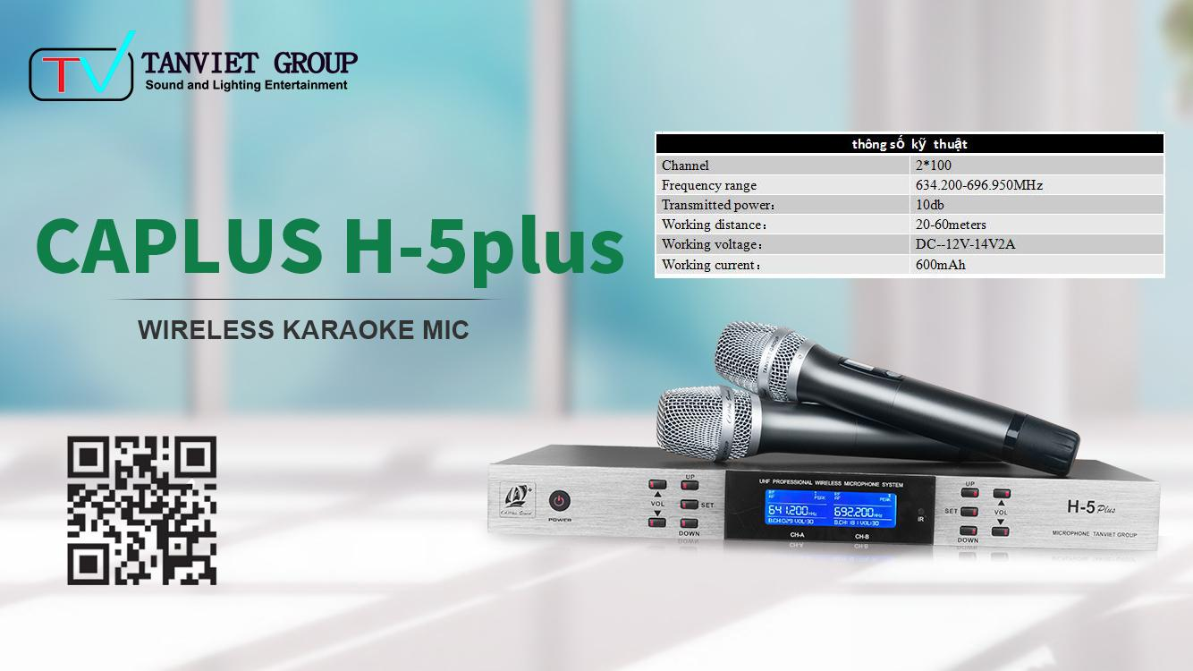 MICROPHONE H5 PLUS