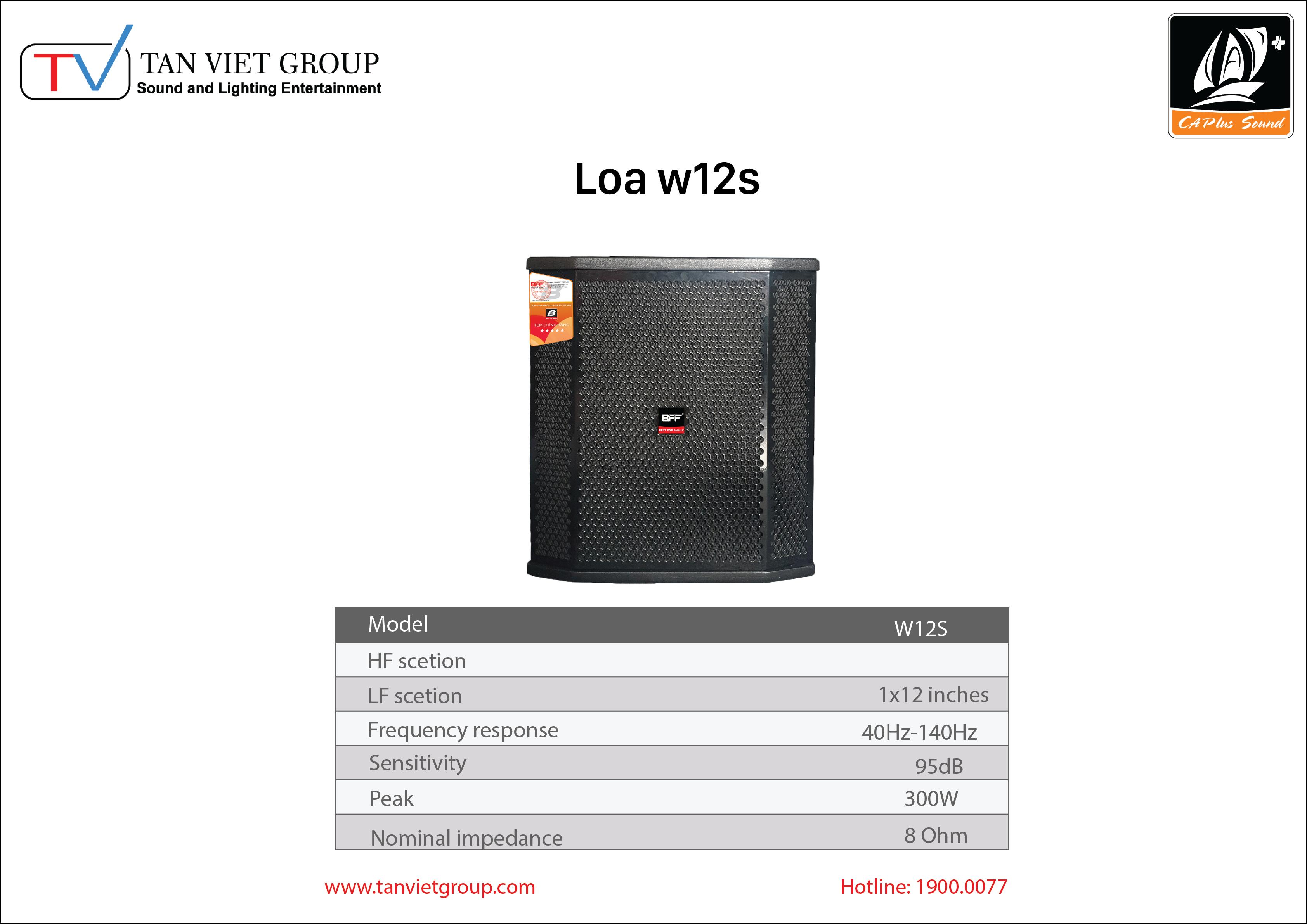 Loa BFF W12S