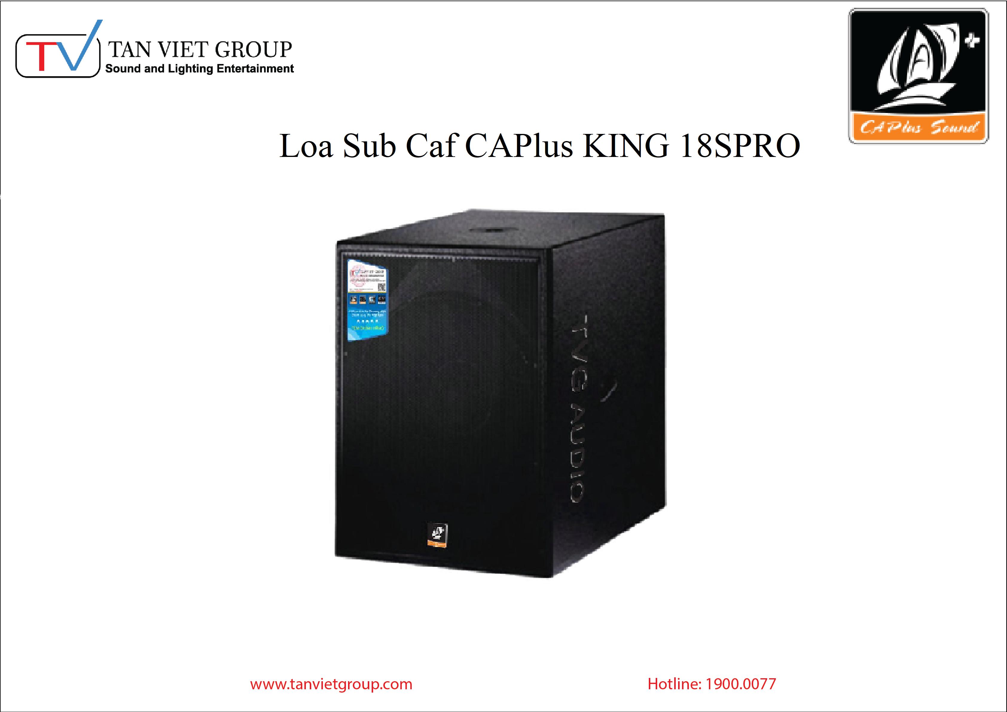 Loa Sub Caf CAPlus KING 18SPRO