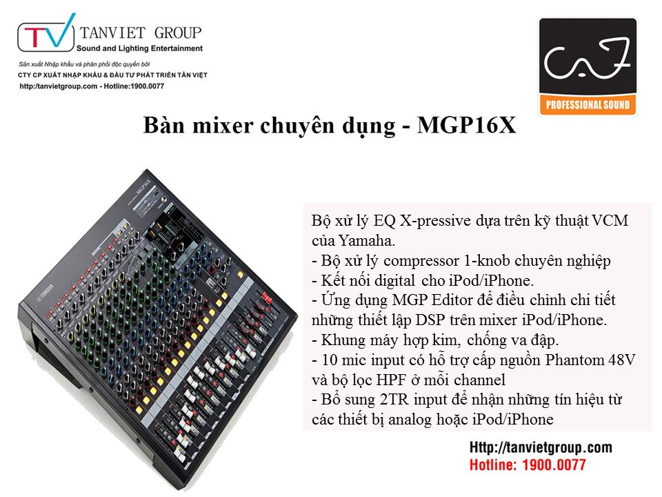 Bàn Mixer chuyên dụng  Yamaha – MGP16X